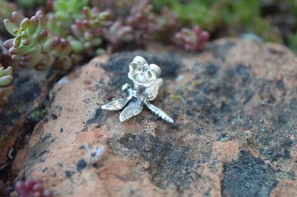 Dragonfly studs underside s - Emma Keating Jewellery