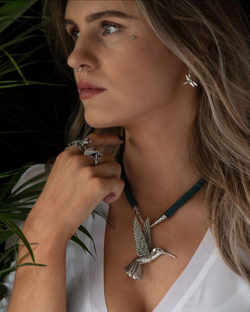 Hummingbird Pendant MLR2 - Emma Keating Jewellery