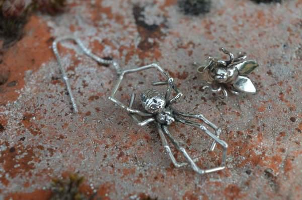 Spider & Fly Earrings 2s - Emma Keating Jewellery