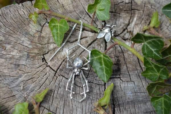 Spider & Fly Earrings 5s - Emma Keating Jewellery