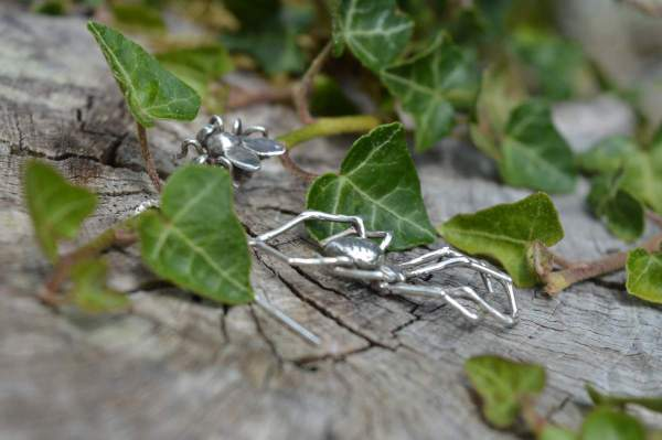 Spider & Fly Earrings 8s - Emma Keating Jewellery