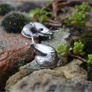 Garden Slug Earrings by Emma Keating Jewellery