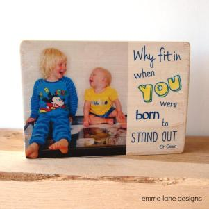 Personalised photo block keepsake