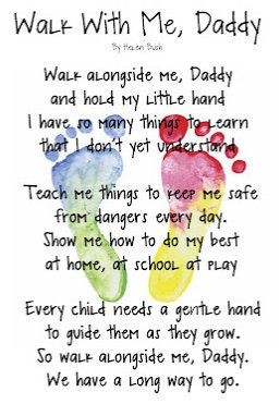 fathers day gift idea poem and footprints