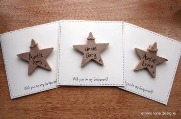 Christening keepsake card
