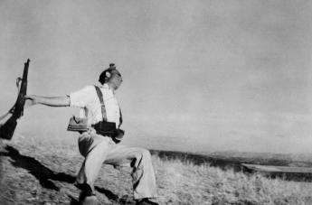 SPAIN. Cordoba front. September, 1936. Death of a loyalist militiaman.