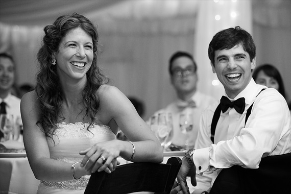 Dennis Drenner Photographs - baltimore museum wedding - bride and groom laugh