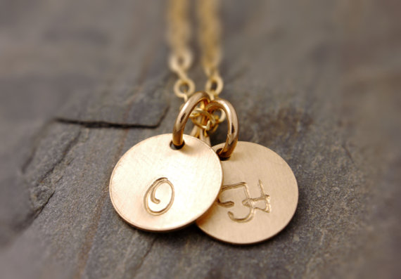 2 initial monogram necklace | monogrammed bridesmaid gifts