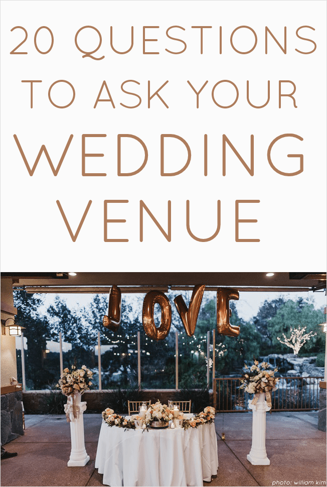 20 Questions to Ask Wedding Venue | http://emmalinebride.com/planning/questions-to-ask-wedding-venue