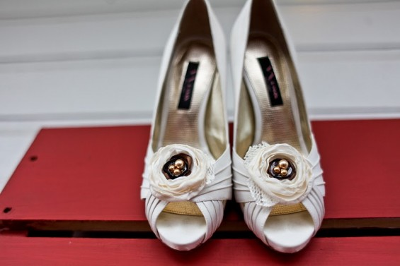 rustic wedding shoe clips