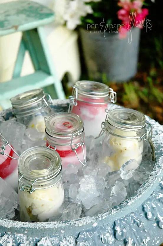 mason jar ice cream favors