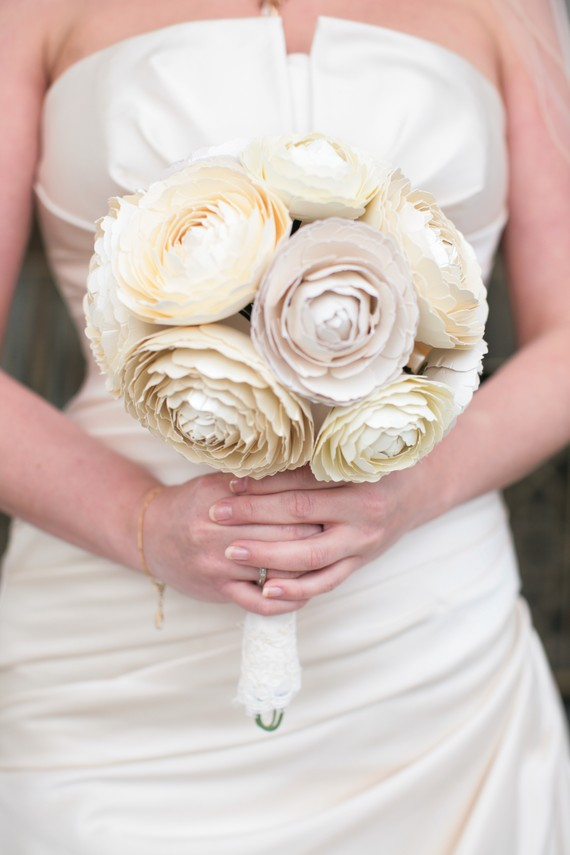 bridal bouquet paper ranunculus