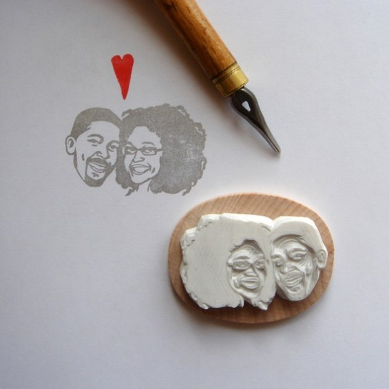 custom double face rubber stamp