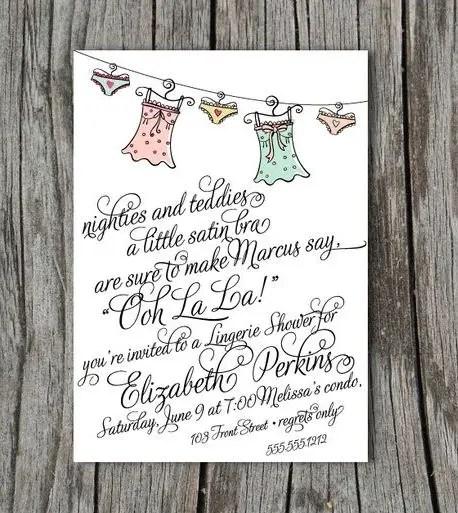 lingerie bridal shower invitation (by blush printables)