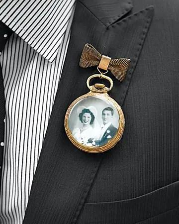pocket watch boutonniere