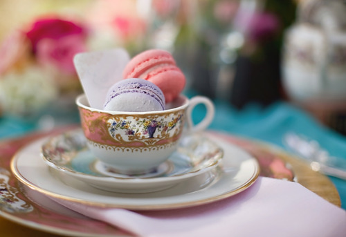 bridal shower tea party cups