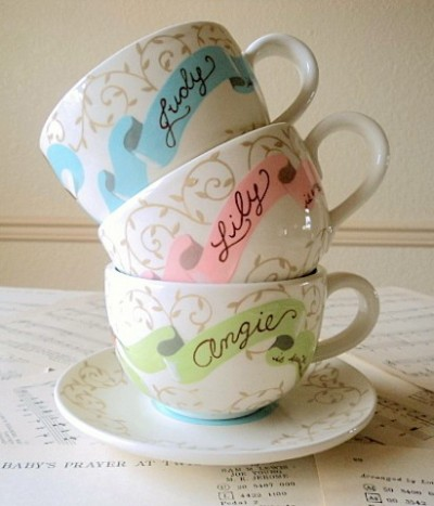 personalized bridesmaid teacups