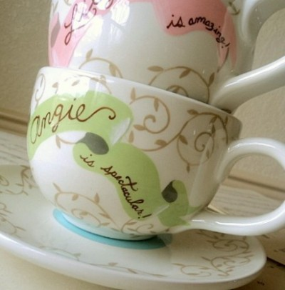 teacups for bridesmaids