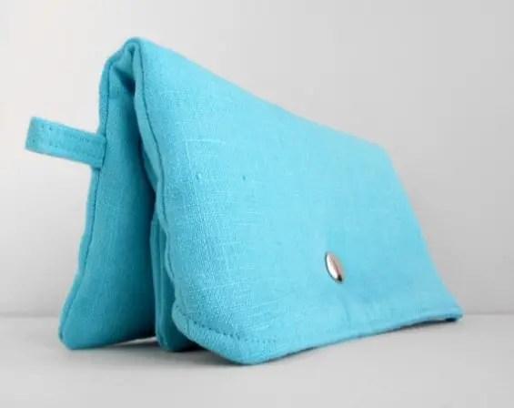 something blue clutch purse