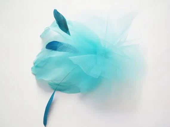 colorful bridal fascinators - blue hair accessory