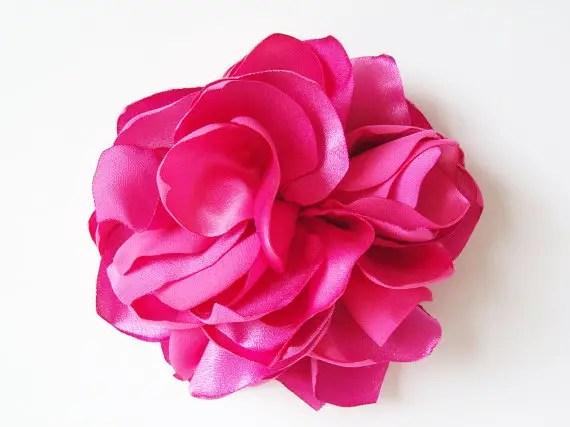 colorful bridal fascinators - hot pink flower accessory
