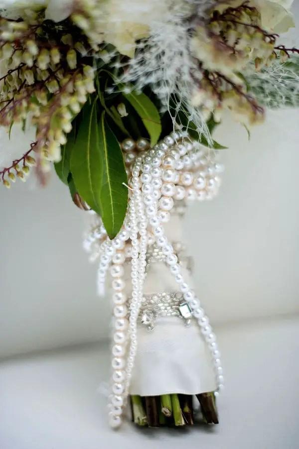 Pearl Bouquet Wrap Emmaline Bride