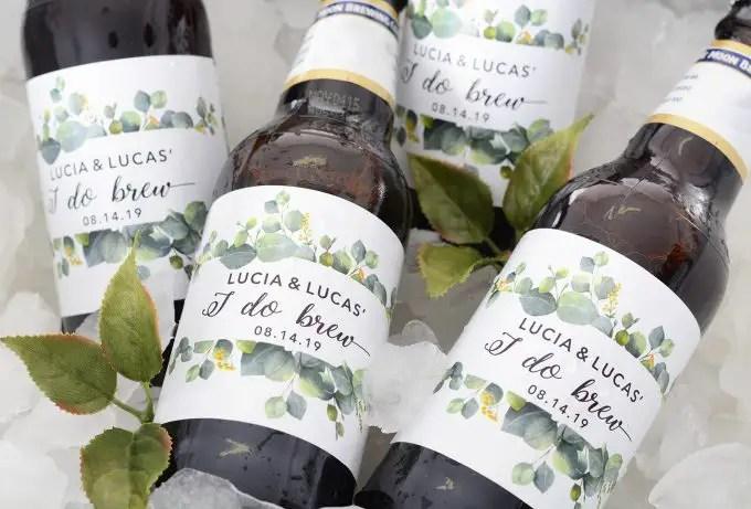 wedding beer labels, beer labels for wedding