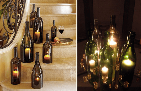 how to cut wine bottles
