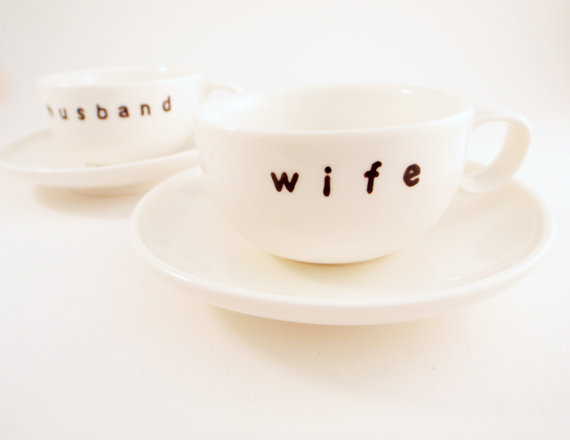 husband wife espresso cups