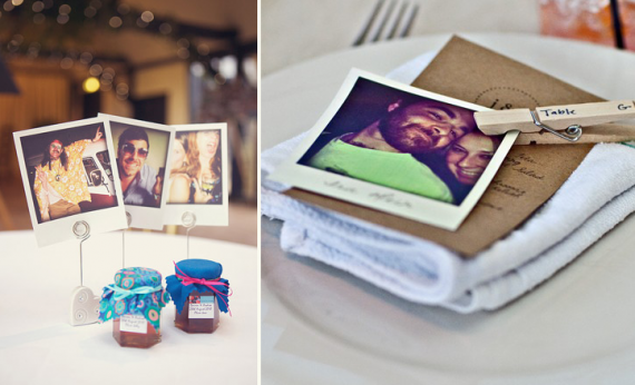polaroid wedding ideas - polaroid place cards