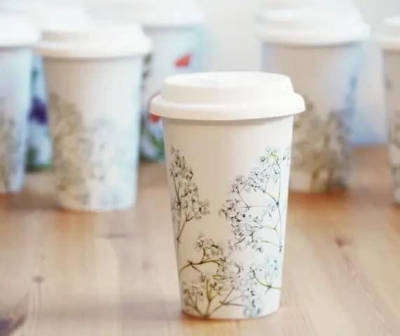 bridesmaid travel mugs - handmade wedding