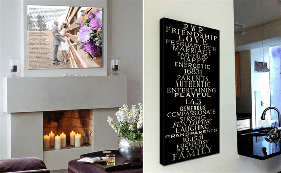 perfect wedding gift - wedding canvas
