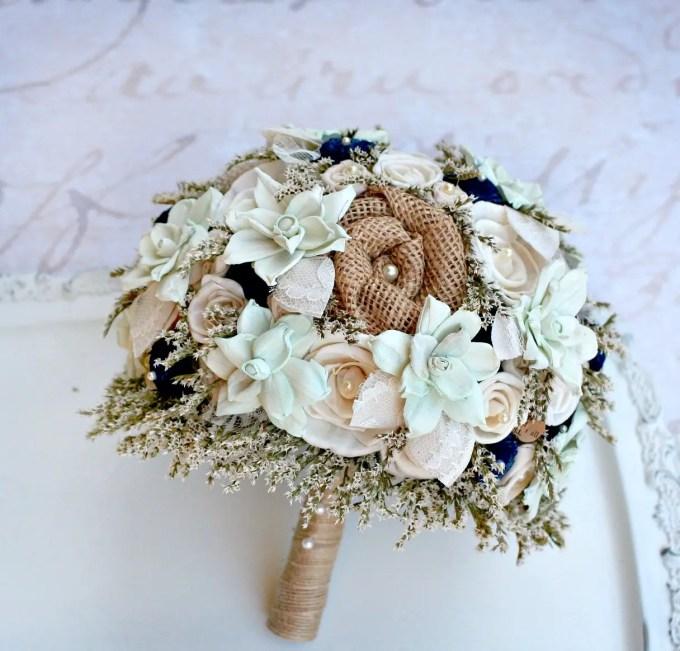 30 Best Alternative / Fake Flower Bouquets for Weddings | Emmaline Bride