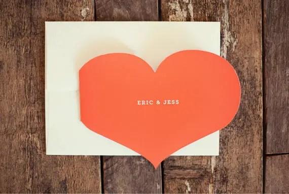 heart wedding invitation
