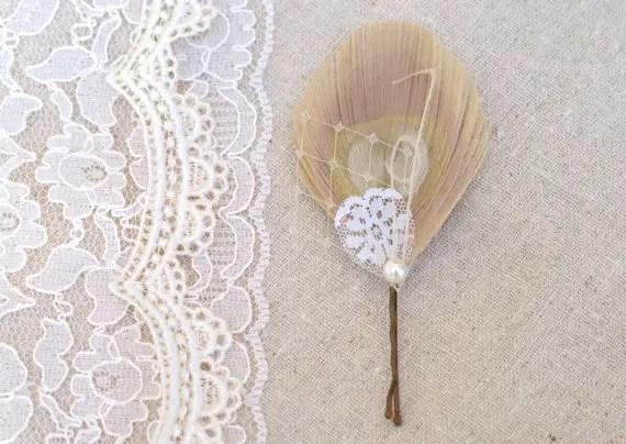 peacock feather hair pins