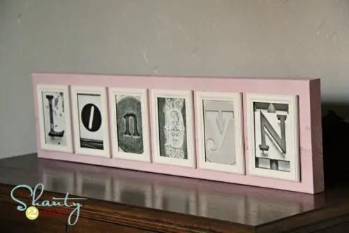 diy photo letters
