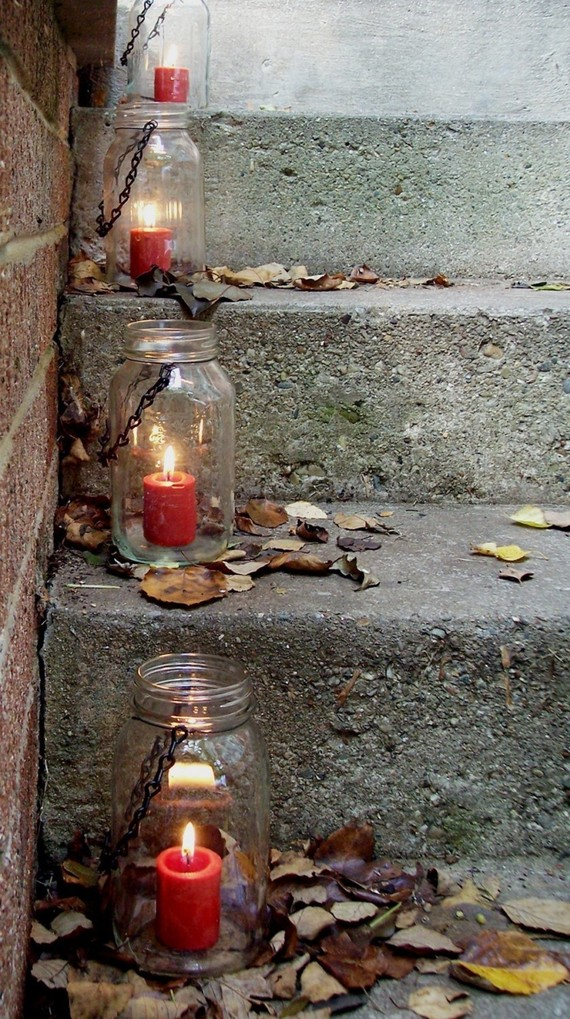 hanging mason jar lantern
