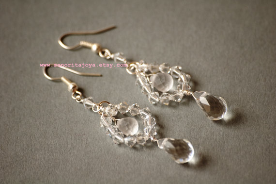 elegant earrings for the bride