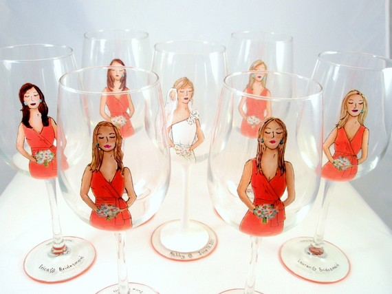 bridal party glasses