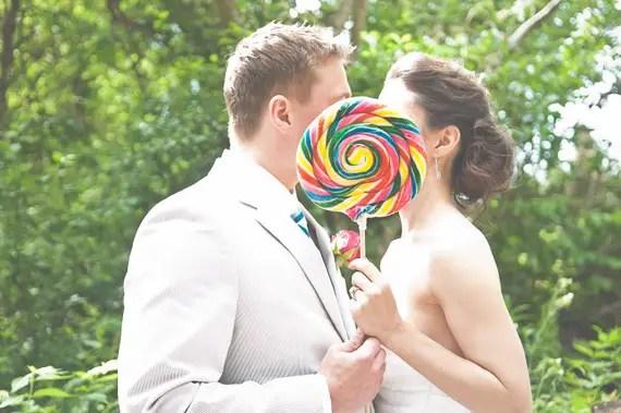 bride groom lollipop