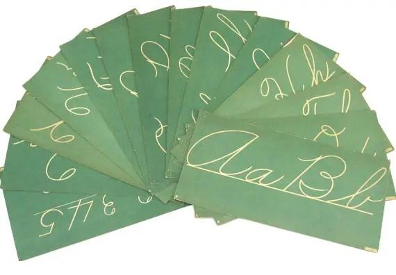 school themed wedding flash cards
