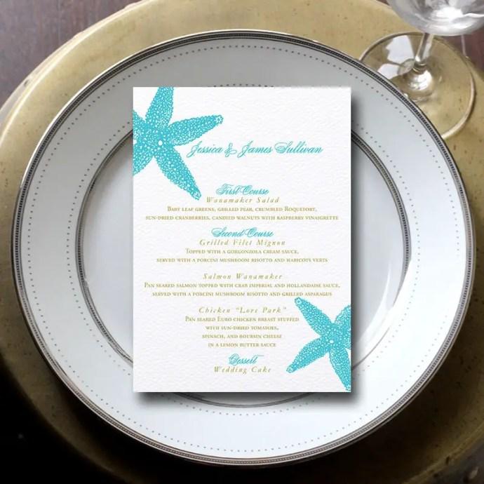 starfish-wedding-menu-card