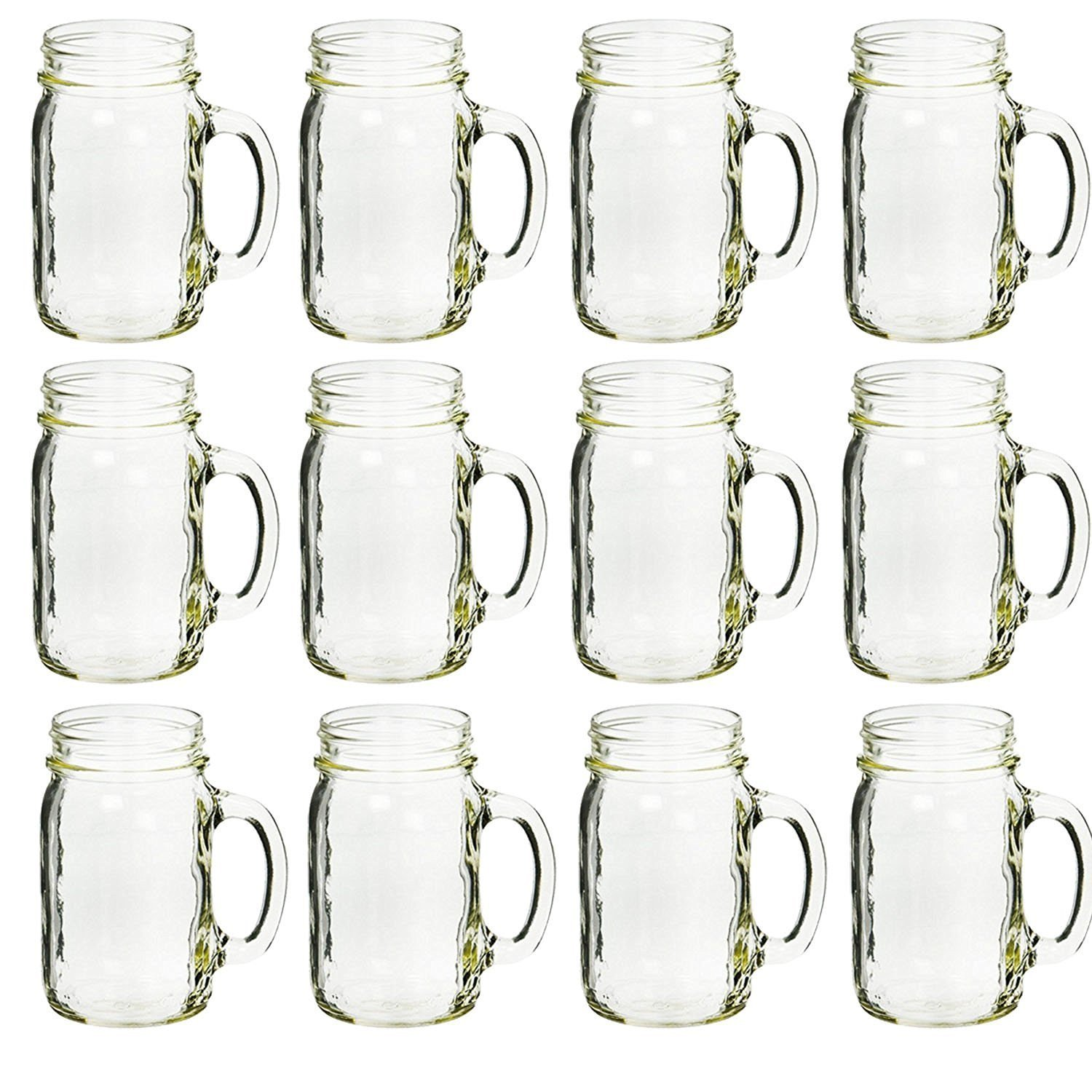 mason jar drinking glasses with handles by ball buy them here in bulk - Mason Jar Drinking Glasses