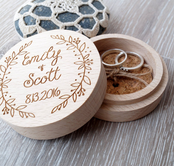 Wood Ring Box By Cork Country Cottage