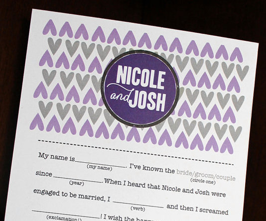 wedding mad libs hearts