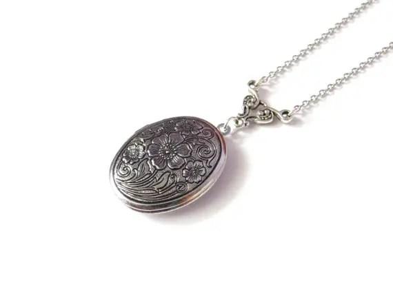 antique oval locket - 1