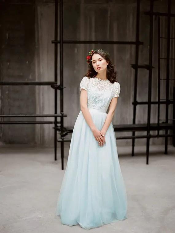 short sleeve wedding dress 2
