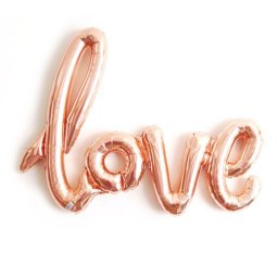 rose gold love balloon by StephShivesStudio