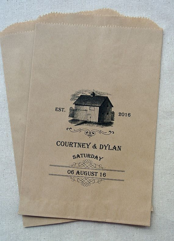barn wedding favor bags by abbey and izzie designs | barn reception ideas for weddings via http://emmalinebride.com/reception/barn-ideas-weddings/ 