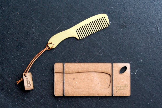 beard comb by burton and levy